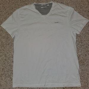 Calvin Klein white v neck t-shirt size large